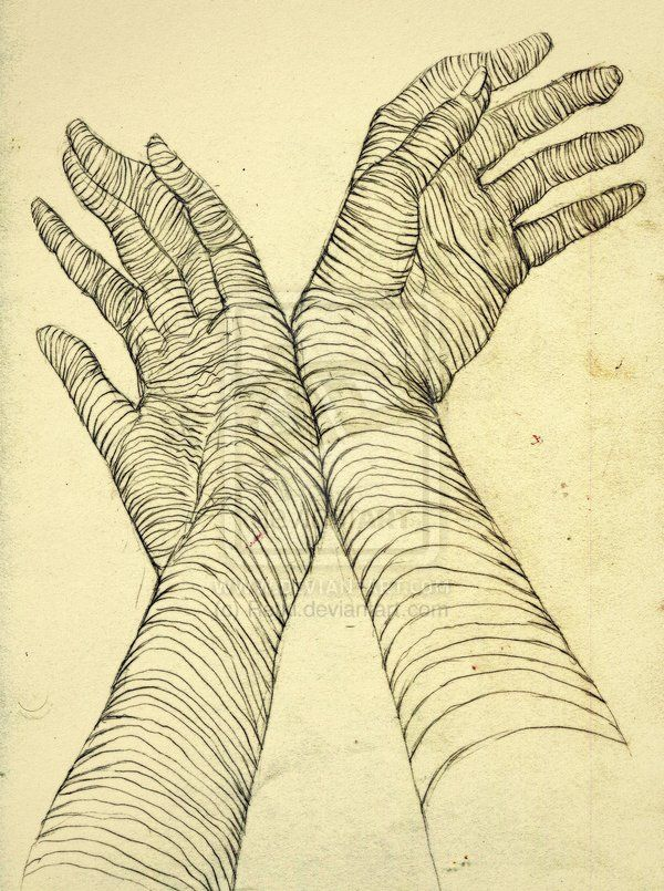 Cross Contour Drawing | ART102 Cross contour hands by RetkiKosmos on deviantART
