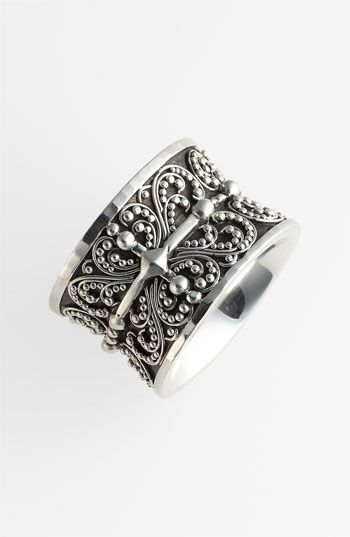 Lois Hill 'Haveli' Granulated Cigar Band Ring