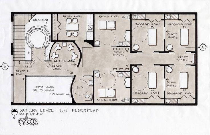 spa floor plans | Spa Design Concept, Fifth Avenue, New York City