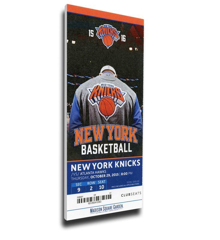 New York Knicks Wall Art - Kristaps Porzingis Home Debut Canvas Mega Ticket