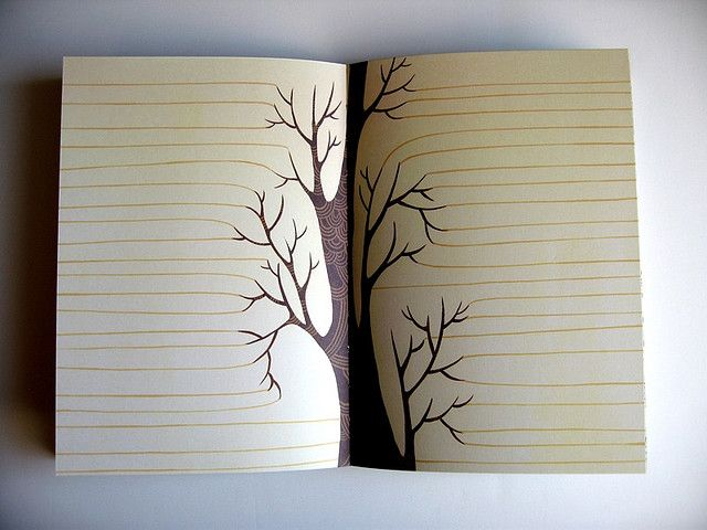 art journal inspiration. Because the spine shadow is perfect for this and only this.
