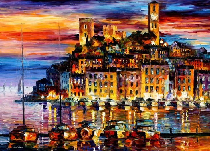 Beautiful Oil PaintingCityscapes, Oil Paintings, The Artists, Leonidafremov, Coastal Colors, Canvas, Cannes France, Leonid Afremov, Watercolors Painting
