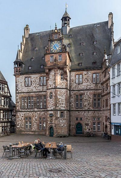 Old Town Hall (Rathaus) in Marktplatz - Marburg, Hesse, Germany