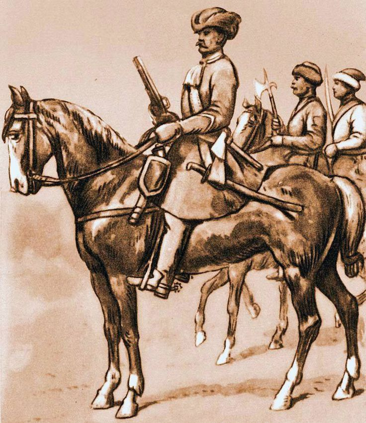 Dragoons from 1683. Fig. B. Gembarzewski.