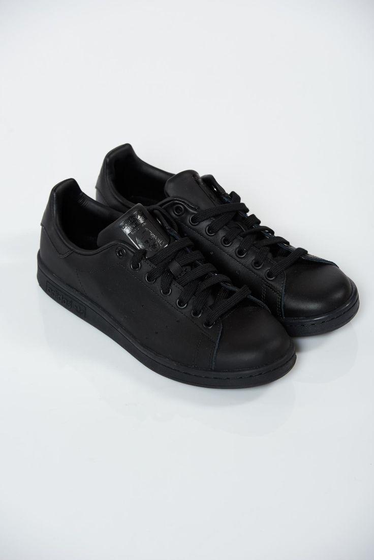 Comanda online, Pantofi sport Adidas Originals Stan Smith negri casual cu talpa usoara. Articole masurate, calitate garantata!