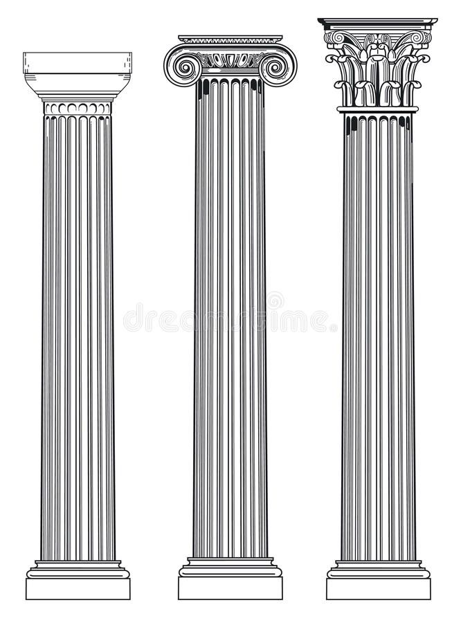Doric Ionian And Corinthian Diagram Of Three Ancient Roman Architectural Colum Affiliate Ancient Greek Architecture Greek Columns Architectural Columns