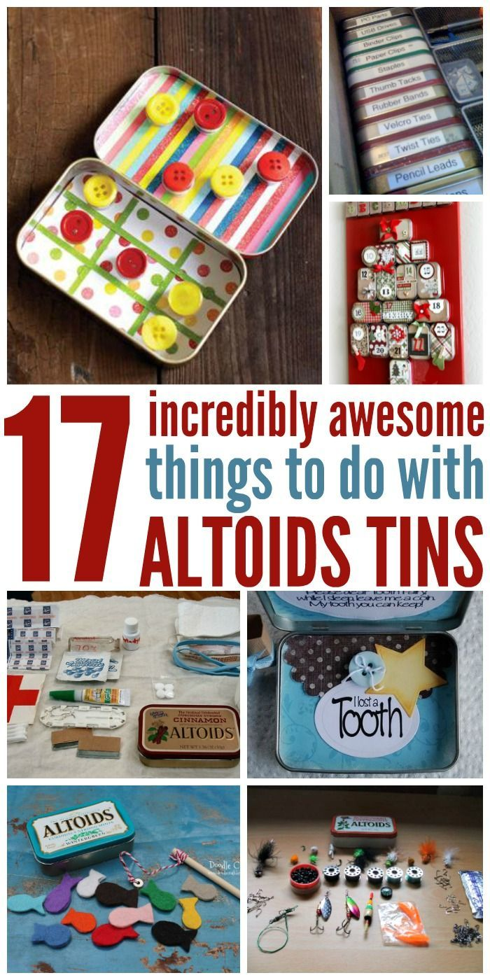 Breath fresheners, like Altoids are great, but in the end you're left with an empty tin. Don't throw it  away just yet, here are some great ways to get the most use out of these incredibly versatile containers.