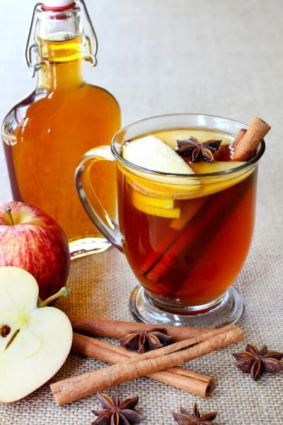 This apple brandy hot toddy will warm you inside and out on a cold night! It's got everything you love about Autumn - apples, cinnamon, anise, and tea!