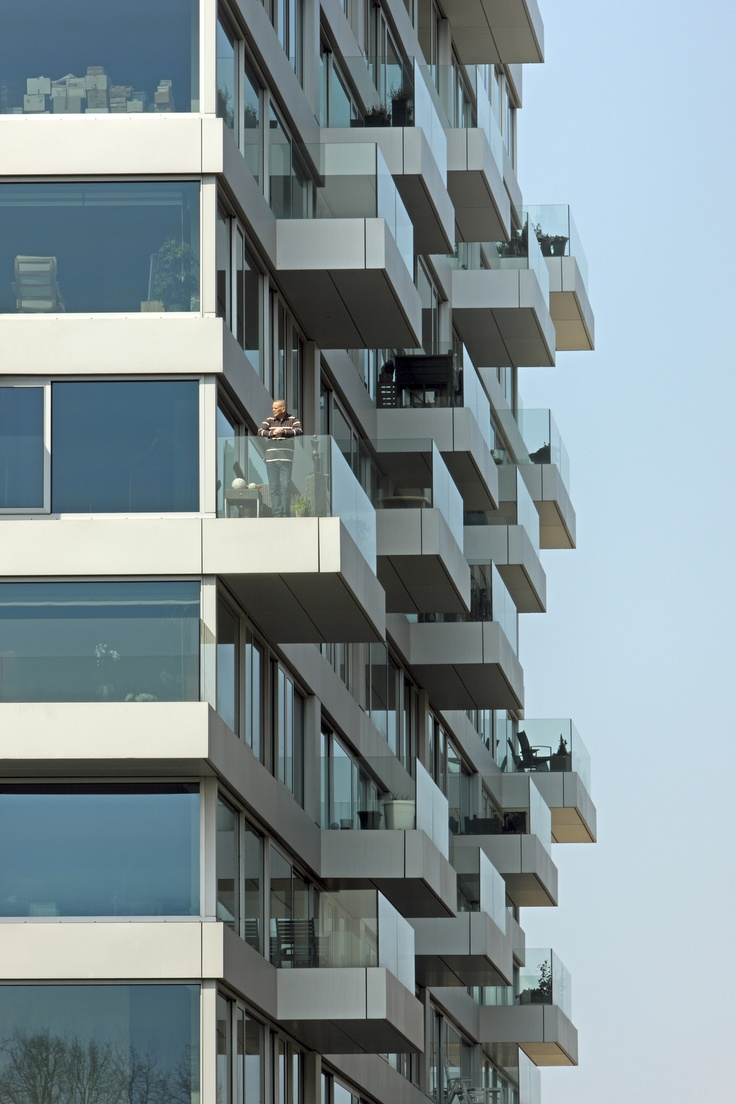 Balcony design ideas in apartment grenoble france home design and - Four Towers Osdorp Wiel Arets Architects