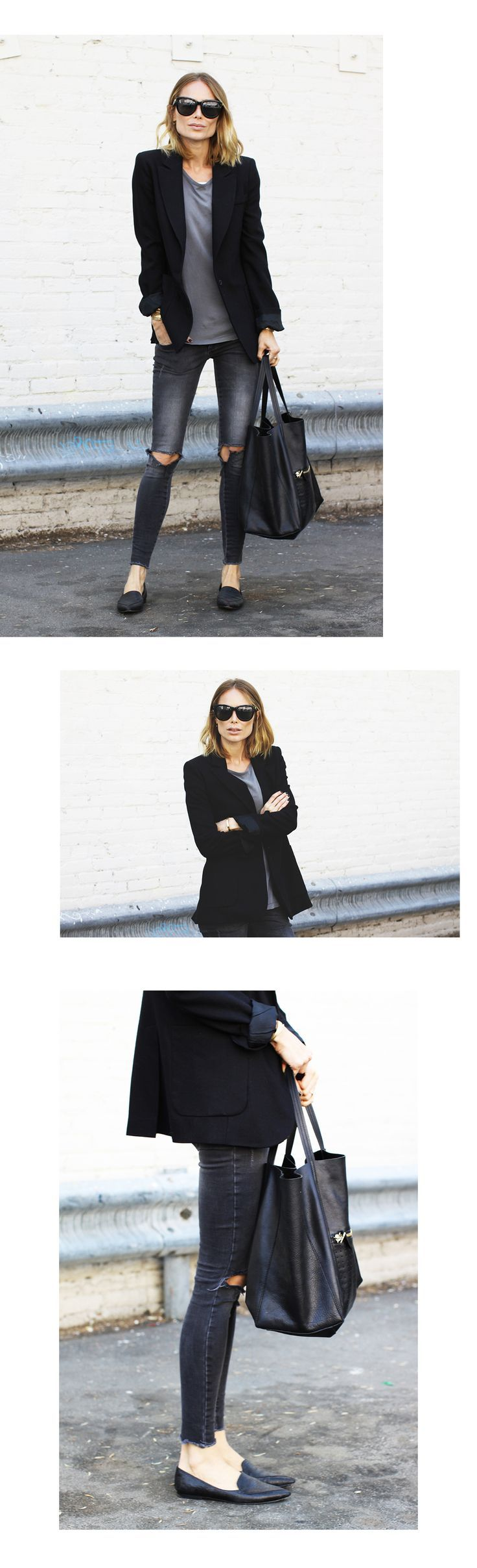 what to wear with black ripped knee jeans 50 best outfits