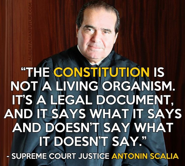 Supreme Court justice on the constitution