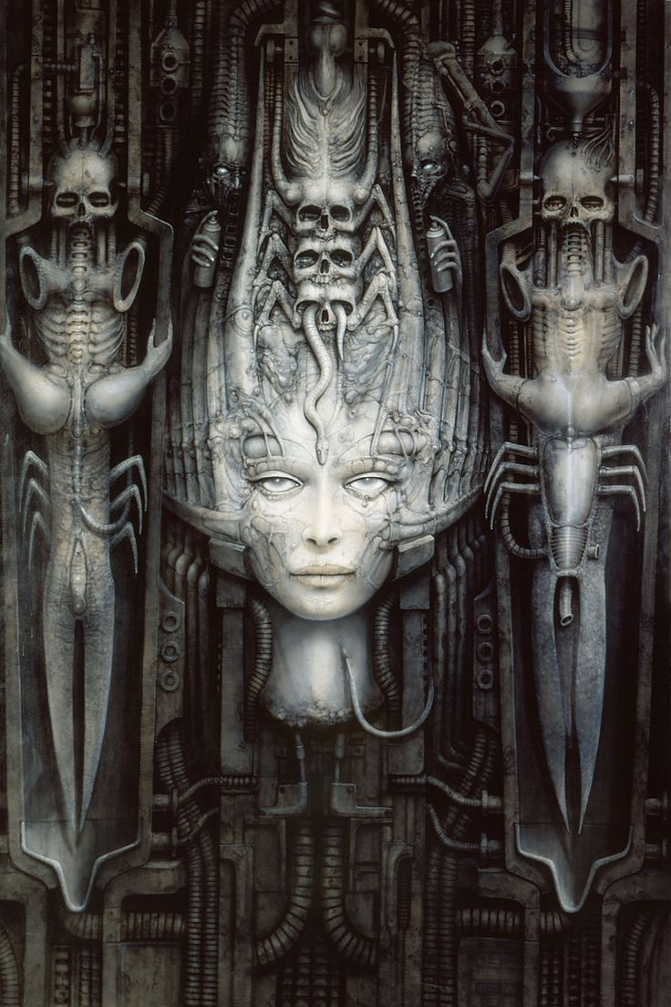 0282 college posters - H.R.Giger Fantasy Art Alien Necronomicon 16x24 Inch(China (Mainland))