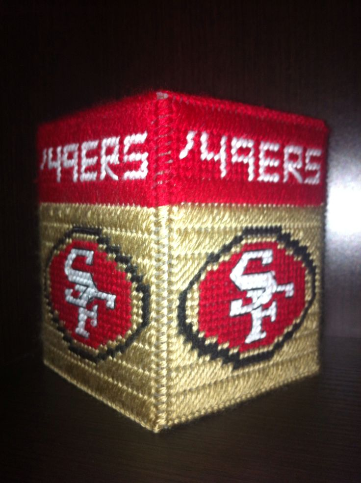 49ers Tissue Box Cover