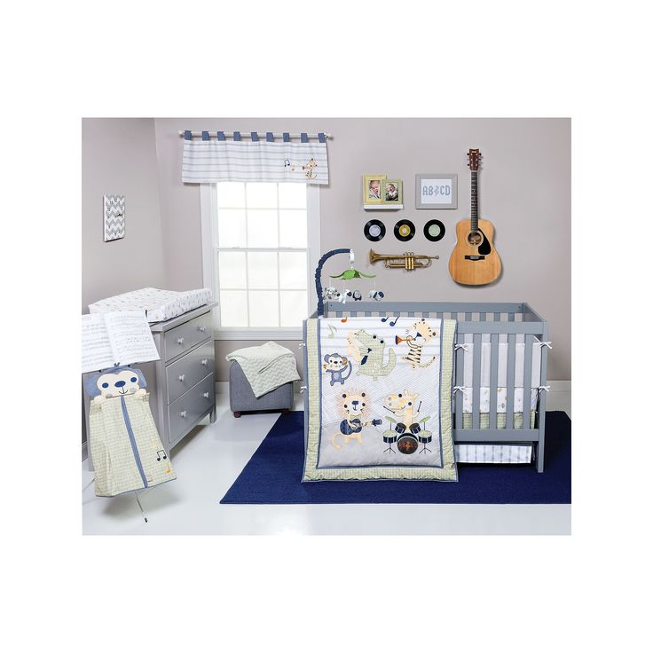 Trend Lab Safari Rock Band 6-pc. Crib Bedding Set, Ovrfl Oth