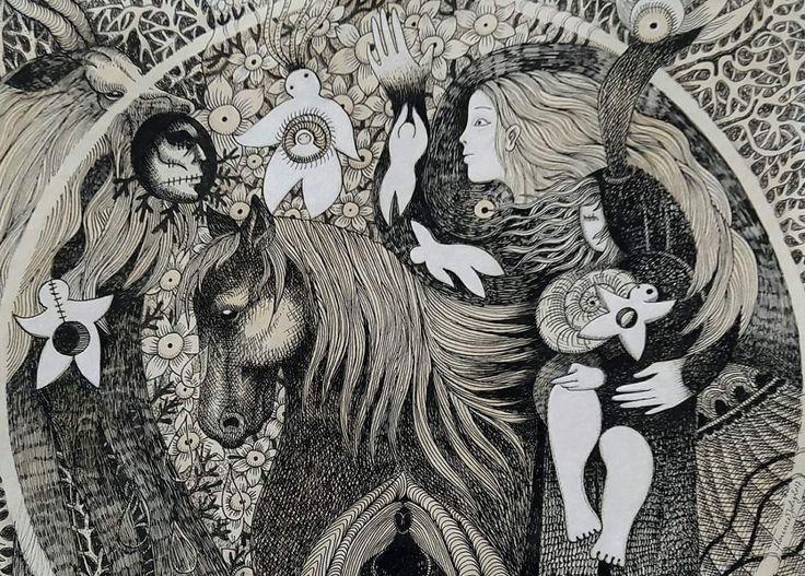 Détails de Blanche (inspirée de La terre qui penche de Carole Martinez) by Florence Joly