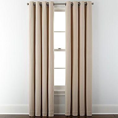 Jcp Jcpenney Home Pembroke Grommet Top Curtain Panel