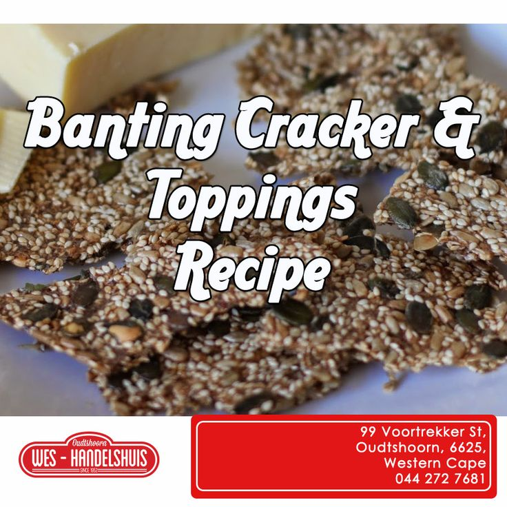 Here is a cracker and topping recipe for all you banters! Click on the link to read, http://apost.link/125. #banting #generaldealer Hier is 'n lekker resep vir al die banters, geniet dit!
