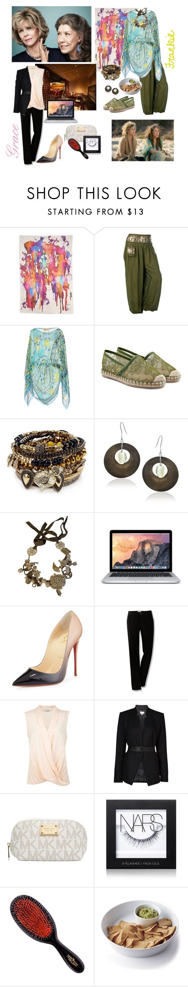 Grace and Frankie Inspired. Jane Fonda & Lily Tomlin. Netflix Series by x-laurynx on Polyvore featuring Emilio Pucci, Miss Selfridge, Witchery, Christian Louboutin, Valentino, Samantha Wills, MaxMara, Lord & Taylor, Franco Ferrari and NARS Cosmetics