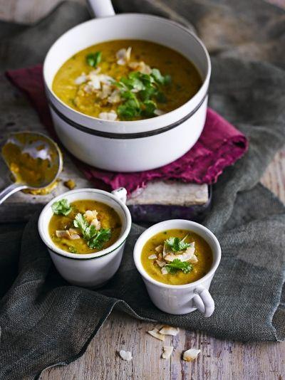 Red lentil, sweet potato & coconut soup