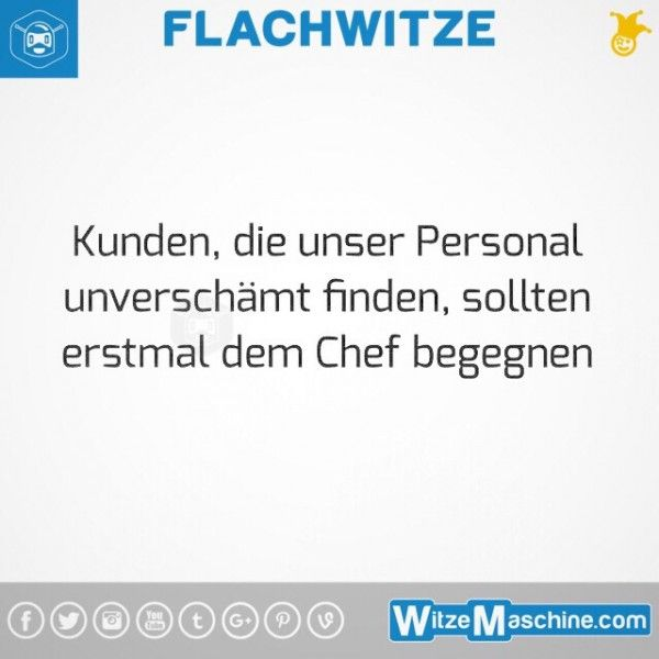 Flachwitze #270 - Chef-Witze