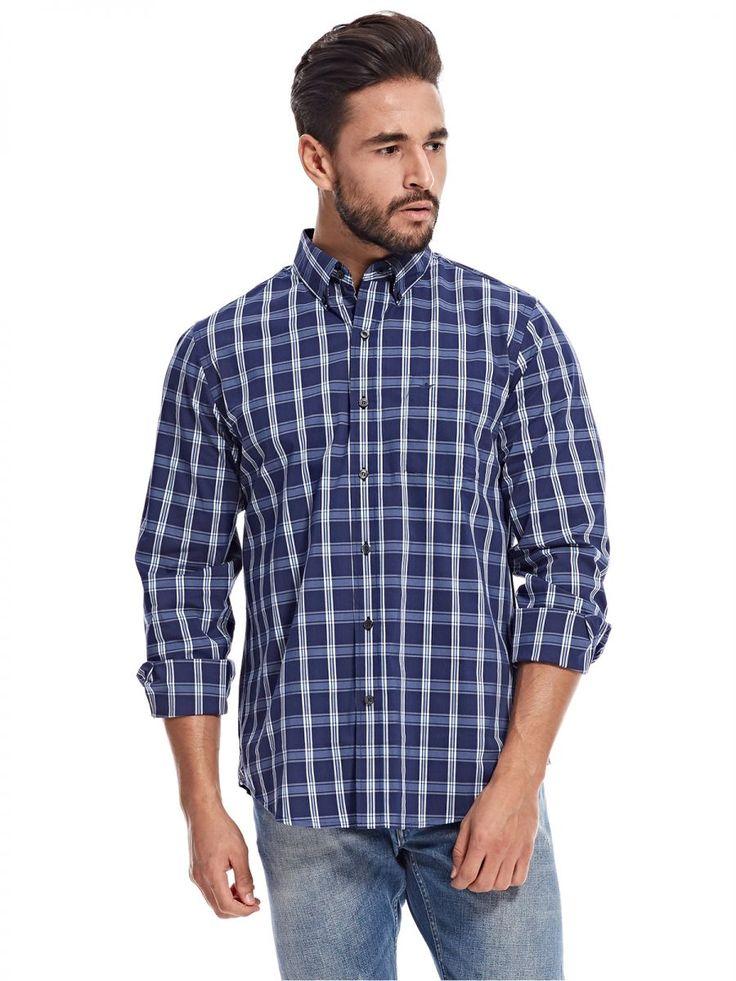 اشتري دوكرز قميص ازرق قبة قميص -رجال - بلايز/ تيشيرتات | السعودية | سوق