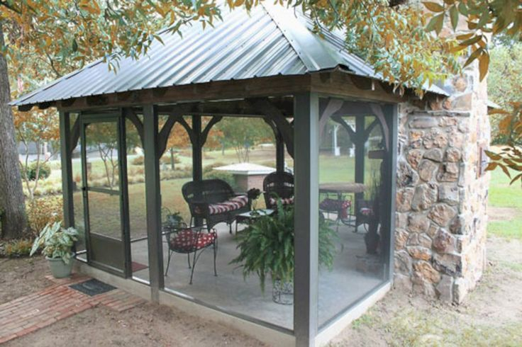 In Vogue Single Roof Rectangle Enclosed Gazebo With Wooden: 62 Best Gazebo Ideas For Your Backyard Images On Pinterest