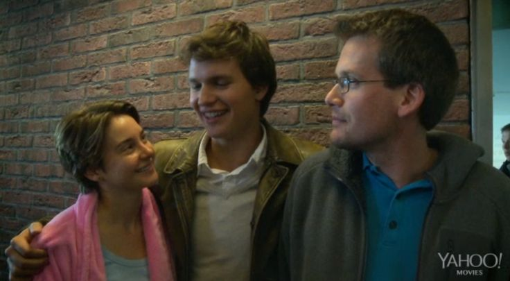 Shai, Ansel and John behind the scenes -- The Fault in Our Stars -- TFiOS