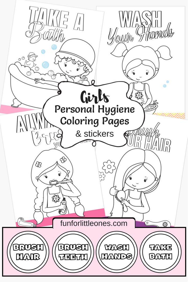 This is a graphic of Accomplished Hygiene Coloring Pages