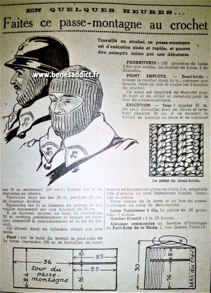 Gratuit 43 Patrons Tricot Vintage 1939 1941 Free 40 Knitting
