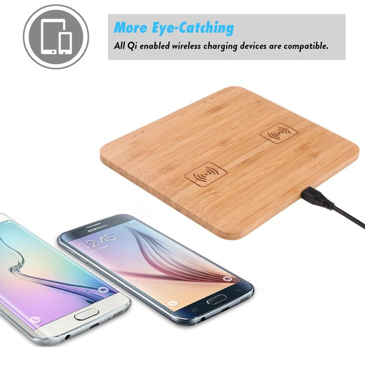 8 besten fast charger bamboo dual iq wireless charger pad. Black Bedroom Furniture Sets. Home Design Ideas