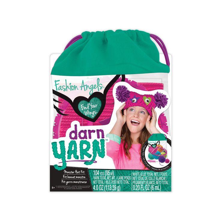 Fashion Angels Darn Yarn Monster Hat Kit, Multicolor