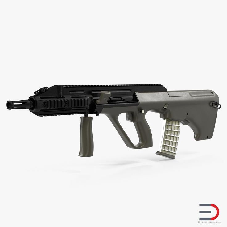 3D Austrian Bullpup Rifle Steyr AUG A3 Green model