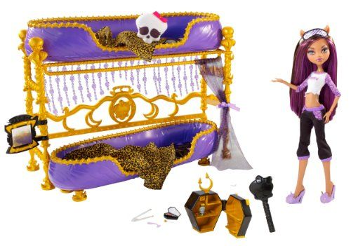 Monster High Dead Tired Clawdeen Wolf Doll And Bed Playset #kids #toys #monster high