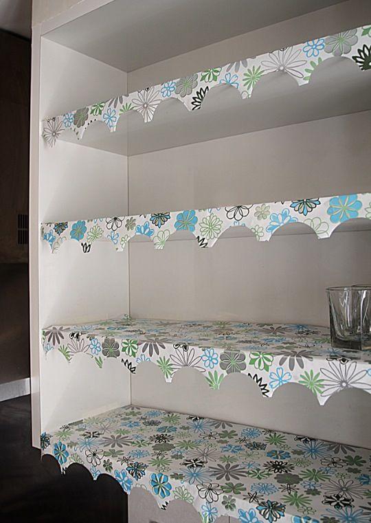 Nice Shelf Liner With A Creative Edge