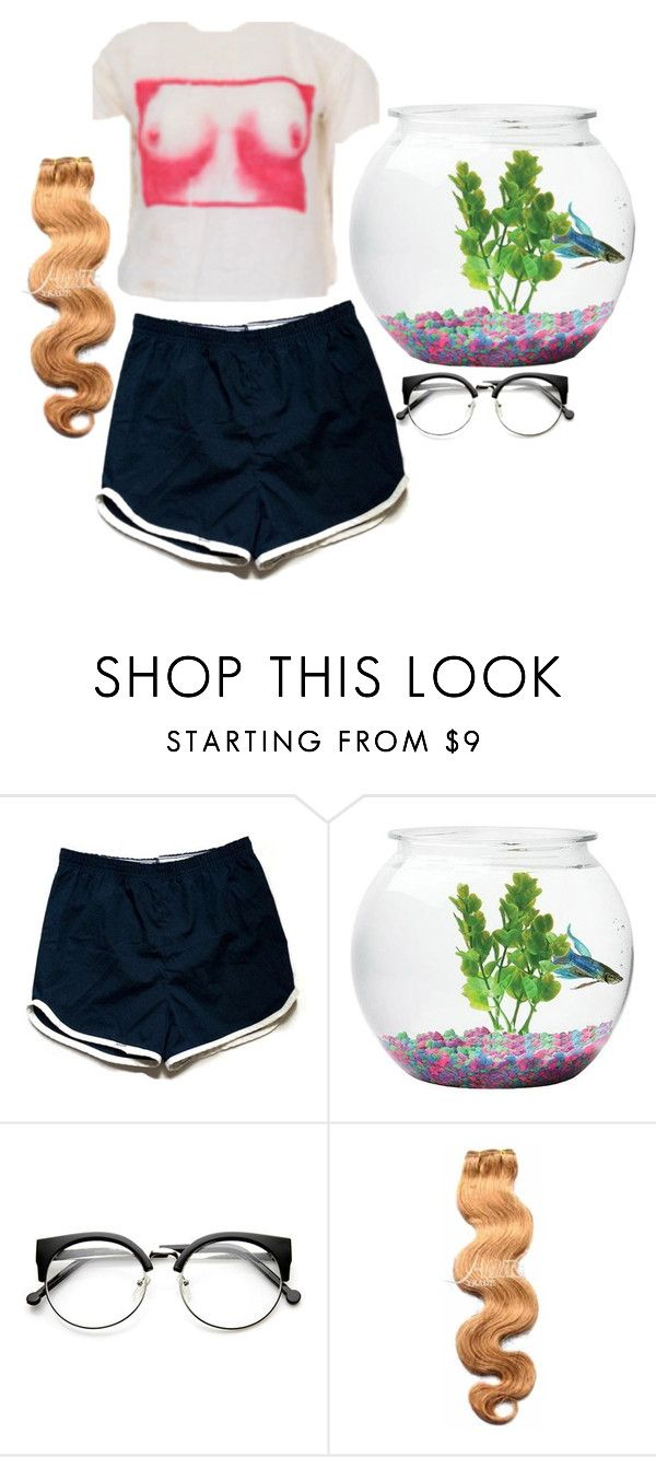 """""""i have finished highschool now what"""" by tarotwhore ❤ liked on Polyvore featuring &K, school, shorts and blonde"""