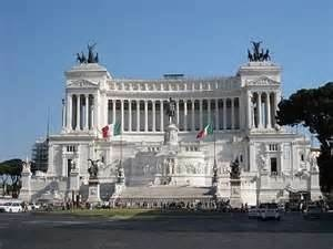 monumento a Vittorio Emanuel's II, or altare della patria, erected in the 19th century to honor  Italy's first king, rome