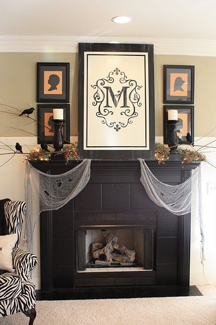 326 best Halloween: Mantels & Fireplaces images on Pinterest ...