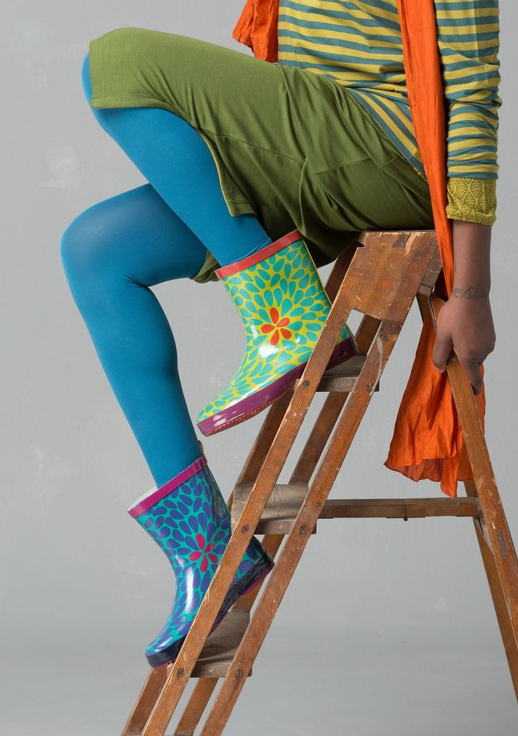 """Britt-Marie"" rain boots in natural rubber – Eco-cotton – GUDRUN SJÖDÉN – Webshop, mail order and boutiques 