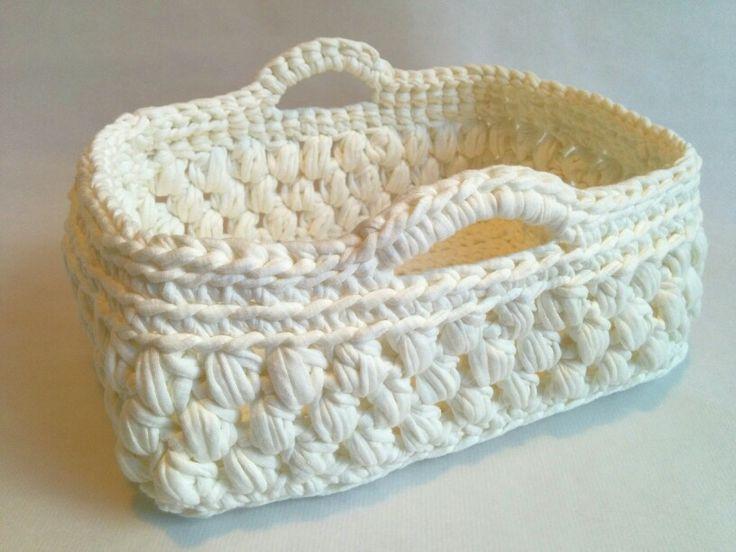 Cesta trapillo crochet. En breve explicaré como se hace en www.cucocuco.com