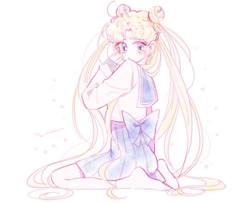 Imagen de sailor moon, kawaii, and anime