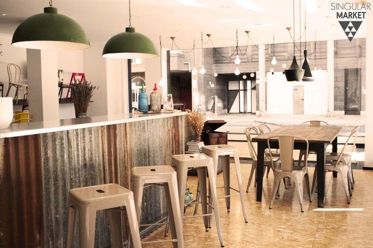 Muebles estilo vintage e industrial l mparas taburetes for Sillas estilo industrial baratas