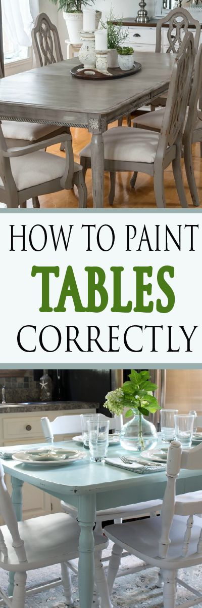 Get detailed steps on how to paint your table correctly.