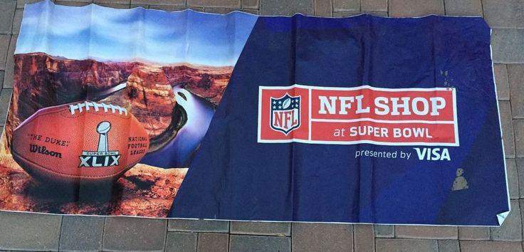 AUTHENTIC Super Bowl 49 XLIX NFL STORE SIGN Patriots Seahawks Glendale Arizona