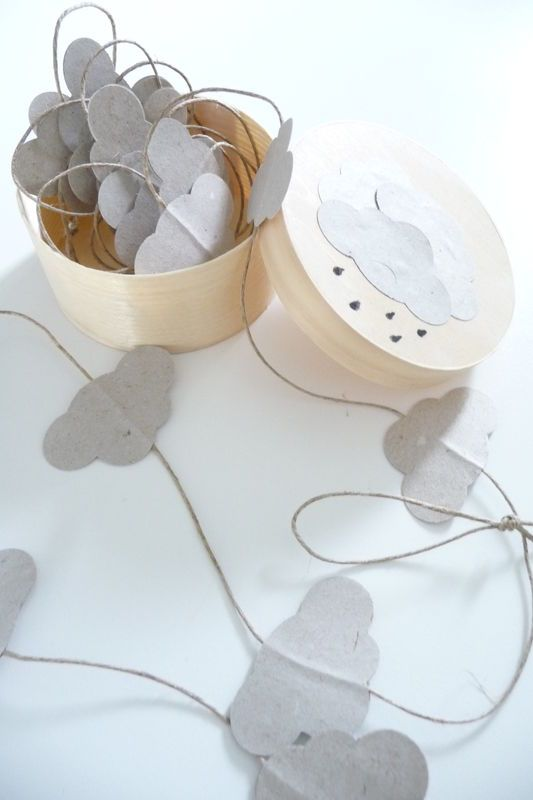 DIY cloud garland