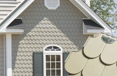 scallop siding.  cuuuute!: Dragon House, Image Search, Dream House, Google Search, Vinyl Siding House, Front House, House Exterior