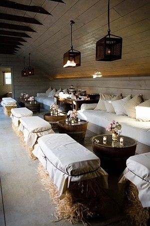 Country-chic barn party