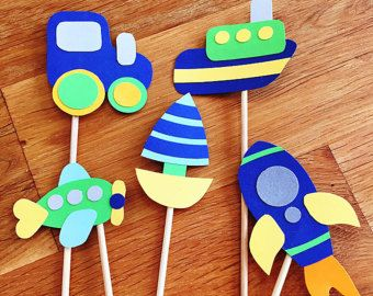 Baby boy cupcake toppers!