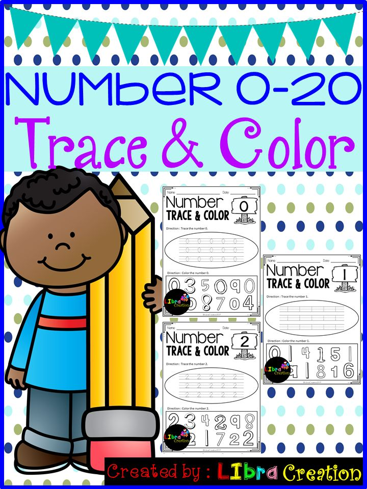 This product will teach your little learner to learn the numbers. They will learn how to trace the number and color the right number. Preschool, Preschool Worksheets, Kindergarten, Kindergarten Worksheets, Number, Number Writing Practice, Number Trace & Color, Number Color & Sort, Number Count & Match, Number Activities, Number Worksheet.