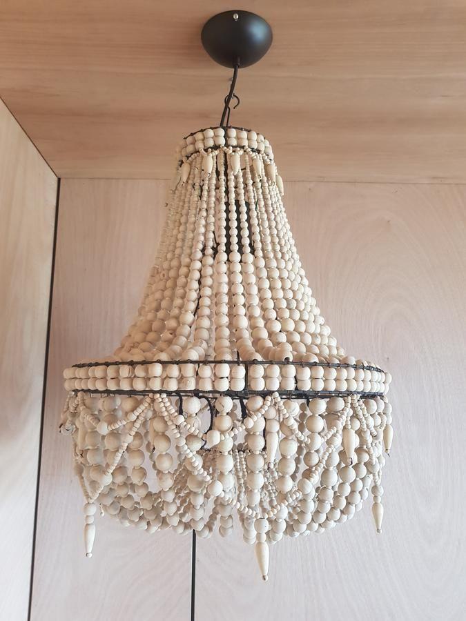 Wood bead chandelier BALI