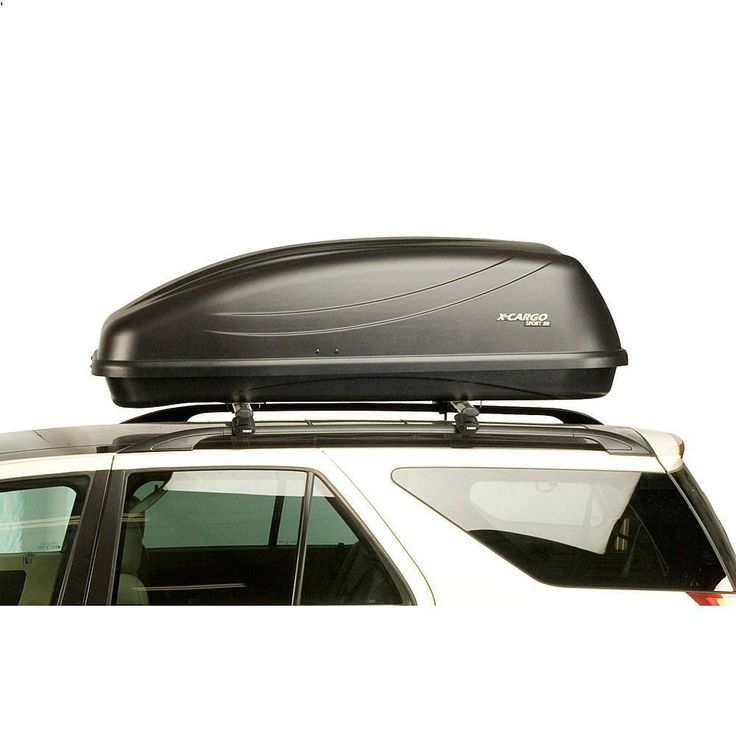 Car Roof Top Carrier Travel Cargo Luggage Universal Plastic Storage Rack Locking #XCargo